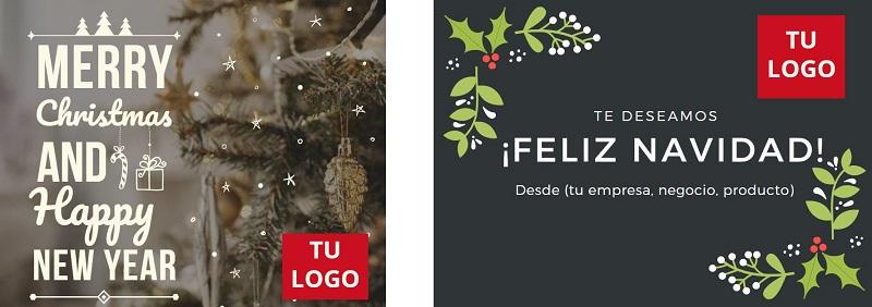 como diseñar postales de navidad
